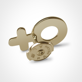 Système Alpa du pin's SEX SYMBOL BOY en or jaune millièmes de la collection de bijoux pour enfants MIKADO.