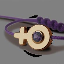 Bracelet SEX SYMBOL GIRL AMÉTHYSTE en or jaune 750 millièmes de la collection de bijoux pour enfants MIKADO.