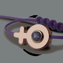 Bracelet SEX SYMBOL GIRL AMÉTHYSTE en or rose 750 millièmes de la collection de bijoux pour enfants MIKADO.