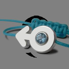 Bracelet SEX SYMBOL BOY TOPAZE BLEUE en argent 925 millièmes de la collection de bijoux pour enfants MIKADO.