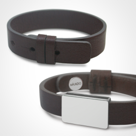 copy of Pack bracelet GOSPEL argent cuir chocolat